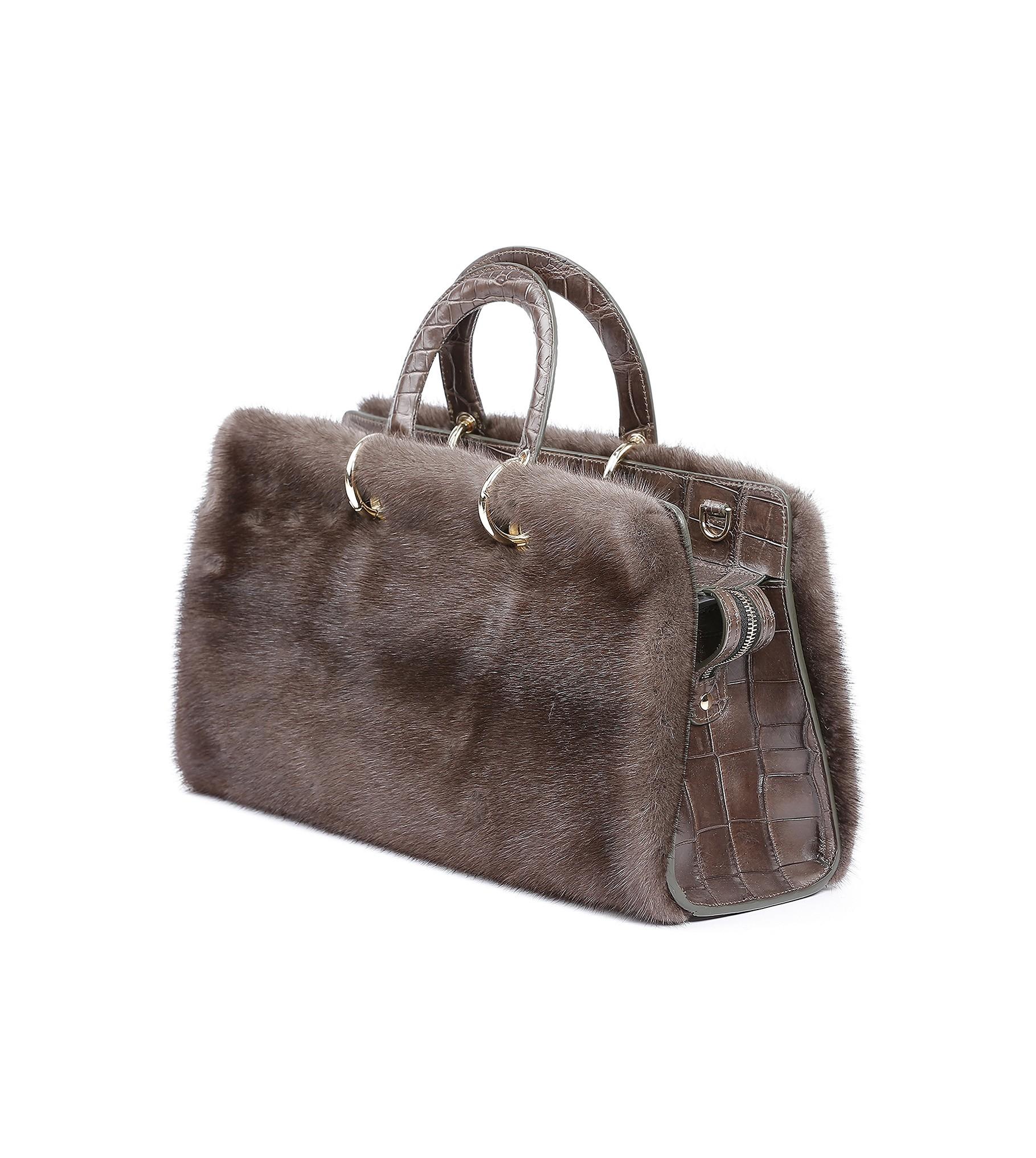 Acc. Mink Bag 50 Brown 14-379-82