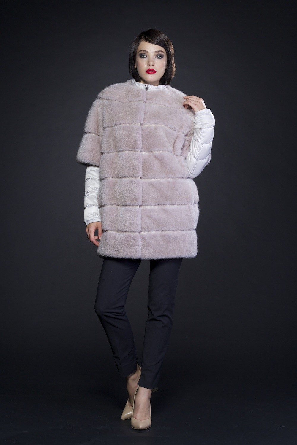 Mink D3011 Feather Jacket D3002